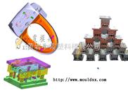 高精密模具,电动马桶盖板注塑模具、模具
